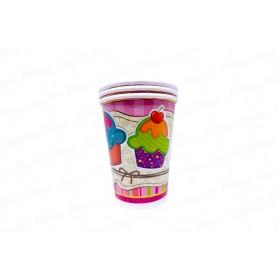 Vasos Cupcake Paquete x8