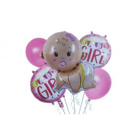 Globo Ramillete Baby Shower Niña