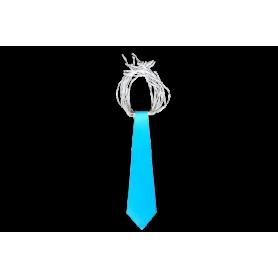 Corbata Larga Azul Fondo Entero Paquete x12