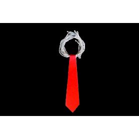 Corbata Larga Roja Fondo Entero Paquete x12