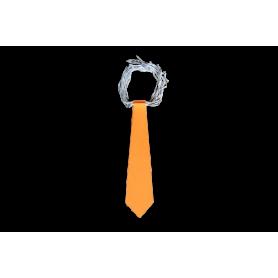 Corbata Larga Naranja Neón Paquete x12