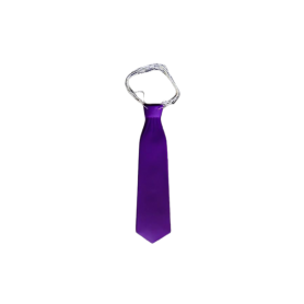 Corbata Larga Plástica Morado Paquete x12