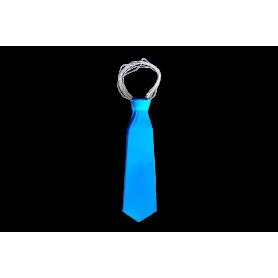 Corbata Larga Plástica Fondo Entero Azul Paquete x12