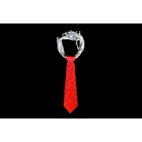 Corbata Roja Neón Estampada Paquete x12