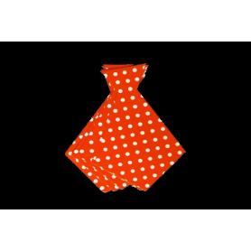Corbata Ancha Polka Naranja Paquete x6