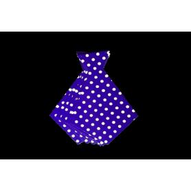 Corbata Ancha Polka Morada Paquete x6