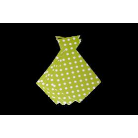 Corbata Ancha Polka Verde Manzana Paquete x6