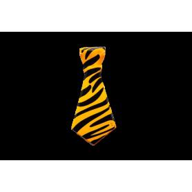 Corbata plástica Ancha Animal Print Paquete x12 Colores Surtidos
