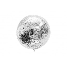 "Globo Burbuja 18"" Confetti Negro"