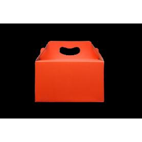 Caja de Regalo Naranja Neón