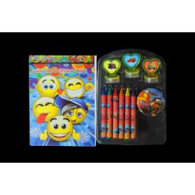 Kit  Crayolas -  Sello - Stickers Cars