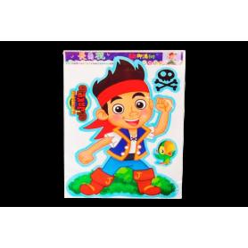 Afiche Sticker El Mundo De Jake