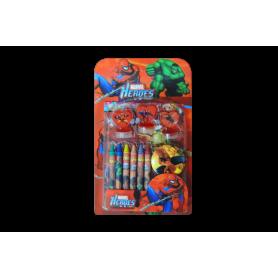 Kit Sticker - Crayolas -  Sello Spíderman