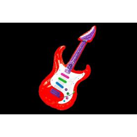 Guitarra Grande Inflable Metalizada