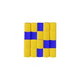 Cortina Crepe Azul - Amarillo