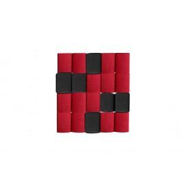 Cortina Crepe Rojo - Negro