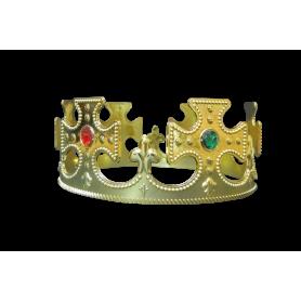 Corona Rey Dorada con Pedrería