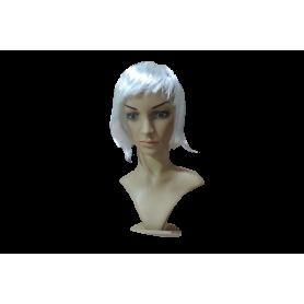 Peluca Corta Blanca
