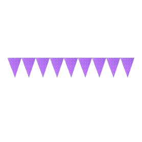 Banderín Polka Lila