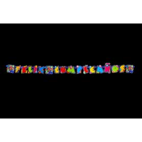 Letrero Feliz Cumpleaños Mario Party Party