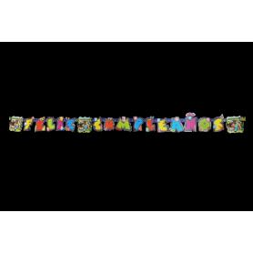 Letrero Feliz Cumpleaños Minecraft Party