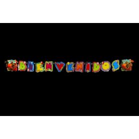 Letrero Bienvenido Dinosaurios Party