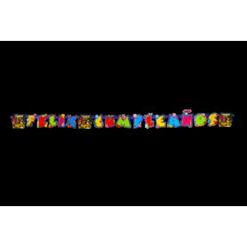Letrero Feliz Cumpleaños Tortugas Ninja
