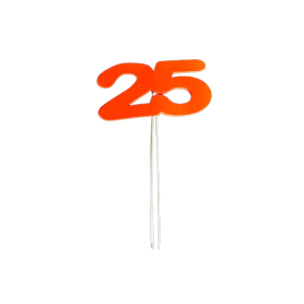 Toppers 25 Años Paquete x6