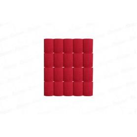 Cortina Crepe Roja