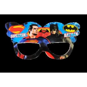 Antifaz Grande Batman y Superman Paquete x12