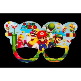 Antifaz Grande Mario Party Paquete x12
