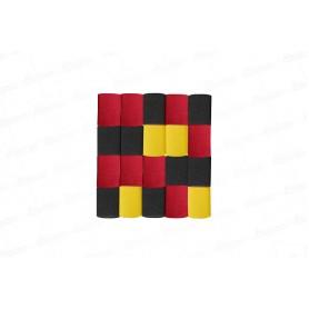 Cortina Crepe Rojo - Negro - Amarrillo