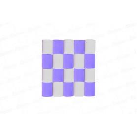 Cortina Crepe Lila - Blanco