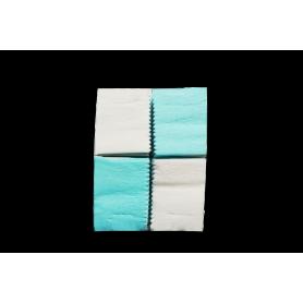 Cortina Crepe Azul - Blanco