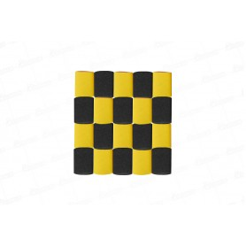 Cortina Crepe  Amarillo- Negro