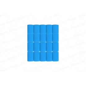 Cortina Crepe Azul Celeste