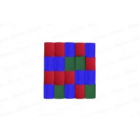 Cortina Crepe Verde -  Rojo - Azul