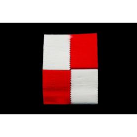 Cortina Crepe Roja - Blanco