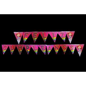 Banderín Feliz Cumpleaños Princesa Sofía