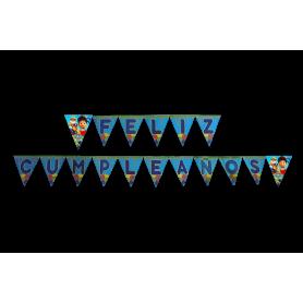 Banderín Paw Patrol Feliz Cumpleaños