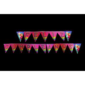 Banderín Feliz Cumpleaños Frozen