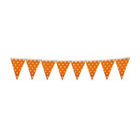 Banderín Polka Naranja Puntos Grandes