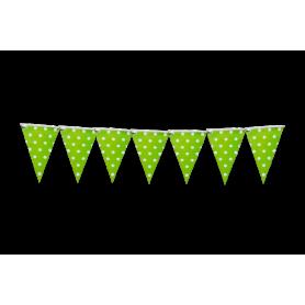 Banderín Polka Verde Manzana Puntos Grandes