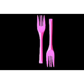 Tenedores Fucsia Paquete x10