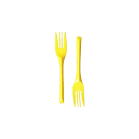 Tenedores Amarillos Paquete x10
