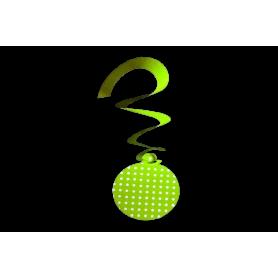 Espiral Polka Verde Manzana  Paquete x4
