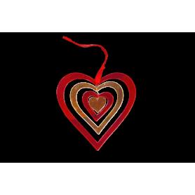Espiral Grande Corazón Acrílico