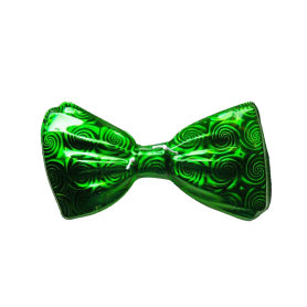 Corbatín Metalizado Verde Navidad Paquete x12