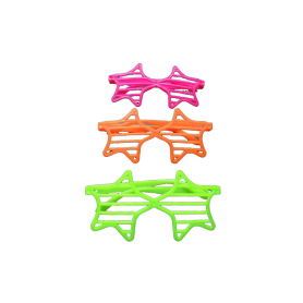 Gafa Rejilla Estrella Neón x1
