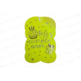 Piñata Feliz cumpleaños Neón Amarilla